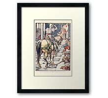 King Arthur's Knights - The Tale Retold for Boys and Girls by Sir Thomas Malory, Illustrated by Walter Crane 217 - Perceval Obtains the Shield of the Beating Heart Framed Print
