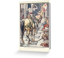 King Arthur's Knights - The Tale Retold for Boys and Girls by Sir Thomas Malory, Illustrated by Walter Crane 217 - Perceval Obtains the Shield of the Beating Heart Greeting Card