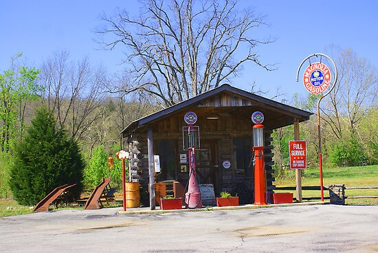Old Time Service station  by Rick  Friedle