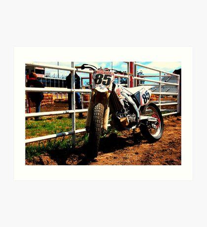 Crf450 Dirt Track bike Art Print