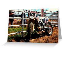 Crf450 Dirt Track bike Greeting Card