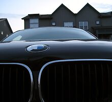 Close up perspective shot of a BMW by krubes