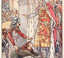 King Arthur's Knights - The Tale Retold for Boys and Girls by Sir Thomas Malory, Illustrated by Walter Crane 8 - Young Owen Appeals to the King by wetdryvac