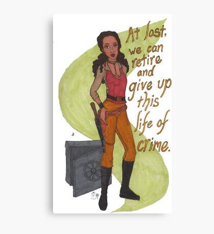 Zoe Washburne, Outlaw Extraordinaire Canvas Print