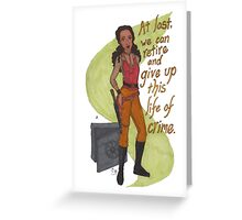 Zoe Washburne, Outlaw Extraordinaire Greeting Card