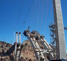 New Bridge being build over HOOVER DAMN by Diane Trummer Sullivan