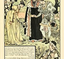 Cinderella Picture Book containing Cinderella, Puss in Boots, and Valentine and Orson Illustrated by Walter Crane 1911 35 - Introduced by the King to his Daughter by wetdryvac