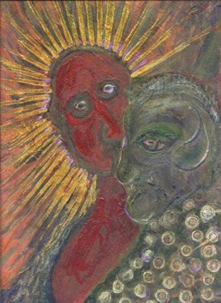 Portrait of Jesus and Judas by Peter Searle ( the Elder )