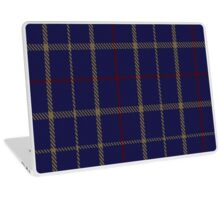 00470 Brooks Brothers Tattersall Blue Fashion Tartan  Laptop Skin