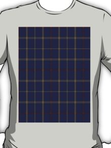 00470 Brooks Brothers Tattersall Blue Fashion Tartan  T-Shirt