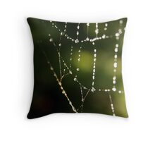 Spiders necklace Throw Pillow