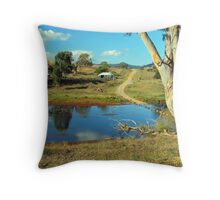 The Track Across the River Throw Pillow
