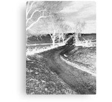 The Bloody Lane, Antietam. Civil war Battlefield. American History.  Canvas Print