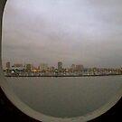 Ocean View from Port Hole Window  by Diane Trummer Sullivan