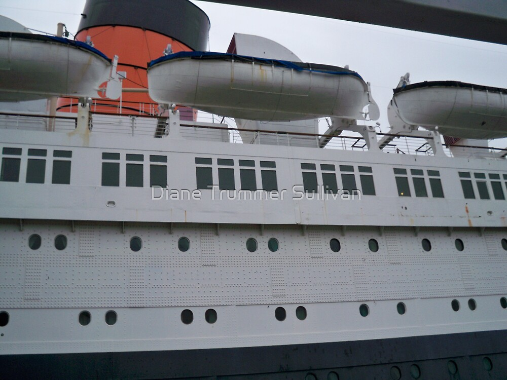 Life Boats on the Queen Mary by Diane Trummer Sullivan