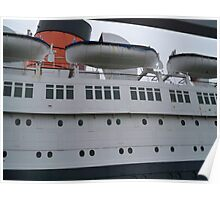 Life Boats on the Queen Mary Poster