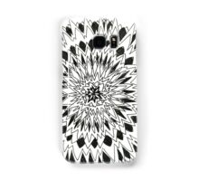 Spiny graphic black and white mandala Samsung Galaxy Case/Skin