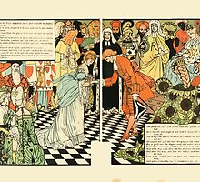 Cinderella Picture Book containing Cinderella, Puss in Boots, and Valentine and Orson Illustrated by Walter Crane 1911 22 - Now You May Go, But Return by Midnight by wetdryvac