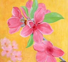 Peach Flowers for Lunar New Year by Thi Nguyen