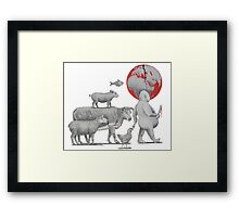 The Black and White of It Is. Framed Print