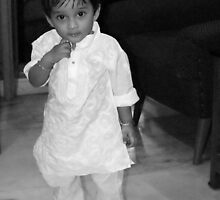 My son ricky on his first birthday by Shubhrajit Chatterjee