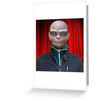Alien Scientist Greeting Card