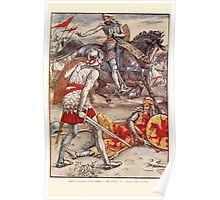 King Arthur's Knights - The Tale Retold for Boys and Girls by Sir Thomas Malory, Illustrated by Walter Crane 363 - Sir Lancelot Forbids Sir Born to Slay the King Poster
