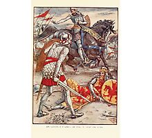King Arthur's Knights - The Tale Retold for Boys and Girls by Sir Thomas Malory, Illustrated by Walter Crane 363 - Sir Lancelot Forbids Sir Born to Slay the King Photographic Print