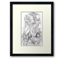 Curly Hair Framed Print