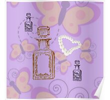 Butterflies, Apothecary Jars & Pearl Heart Poster