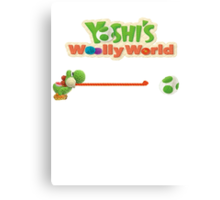 Yoshi's Wooly World Canvas Print