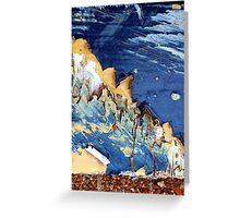 blue mountian Greeting Card