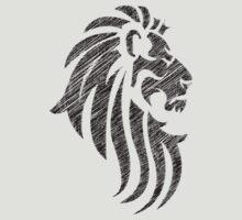 Lion Tribal Tattoo Style Distressed Design  by Denis Marsili - DDTK