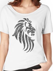 Lion Tribal Tattoo Style Distressed Design  Women's Relaxed Fit T-Shirt