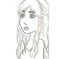 Girl Sketch Photographic Print