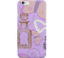 Butterflies, Apothecary Jars & Pearl Heart iPhone Case/Skin