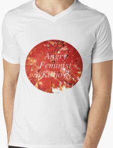 Angry Feminist Killjoy Mens V-Neck T-Shirt