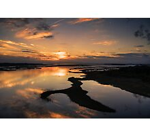 Sunset on Bogue Sound, Emerald Isle, North Carolina Photographic Print