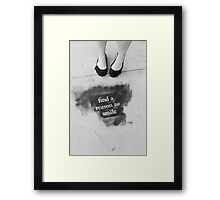 Find a reason to smile Framed Print