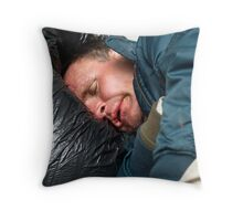 holding up a mirror Throw Pillow
