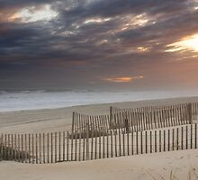 Sunset through a storm over Emerald Isle, North Carolina by DArthurBrown