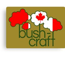 Bushcraft Canada flag Canvas Print
