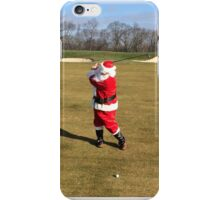 Santa hitting his 3 wood on December 26 iPhone Case/Skin