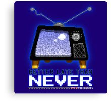 Retro TV - Better Late Than Never Videogames Canvas Print