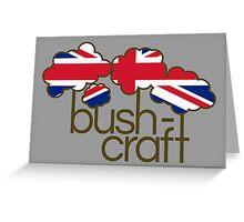 Bushcraft United Kingdom flag Greeting Card