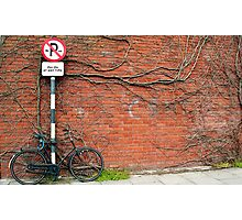 Cycling In THe Modern Age II Photographic Print