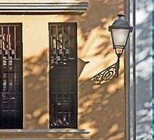 Two Windows and a Street Light by cclaude