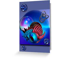 Space travelling Greeting Card