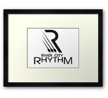 River City Rhythm Products - Black on White logo Framed Print