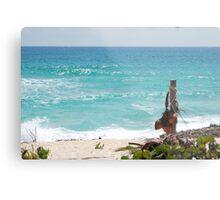 Turquoise Caribbean Sea Waves Metal Print